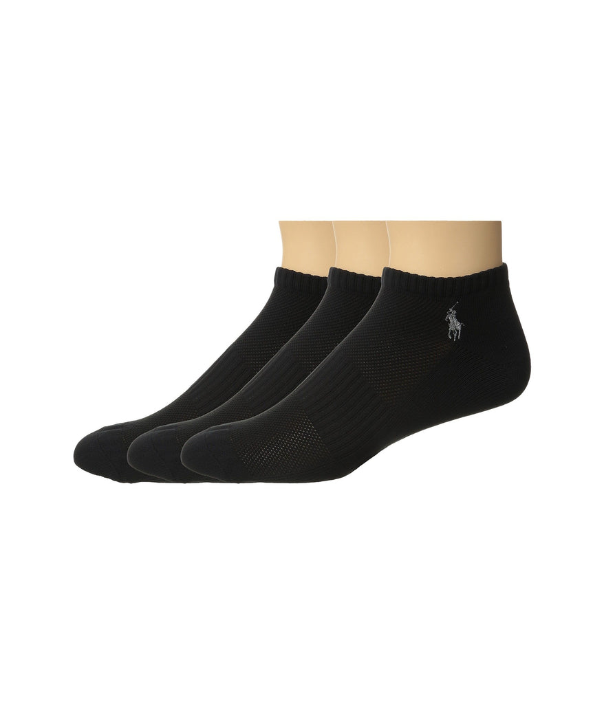 Polo Ralph Lauren | 3-Pack Tech Athletic Ped with Polo Player Embroidery - Yashry