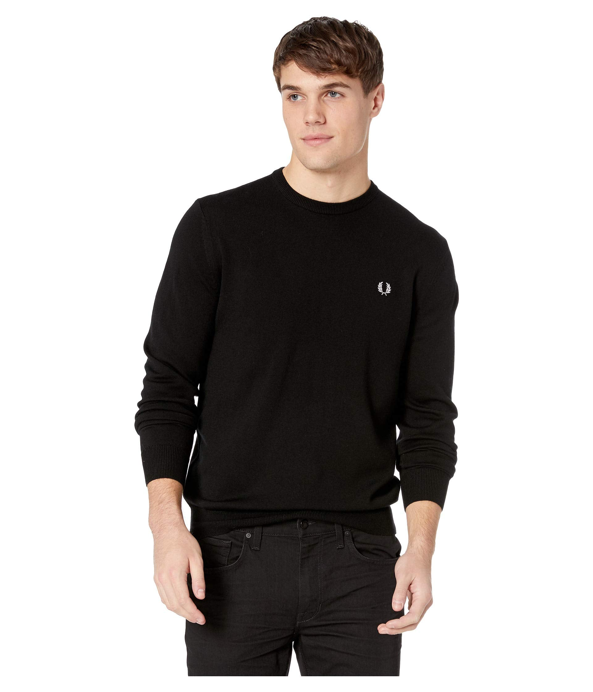 72ef3adae35 Fred Perry Classic Crew Neck Sweater - Black / 2XL