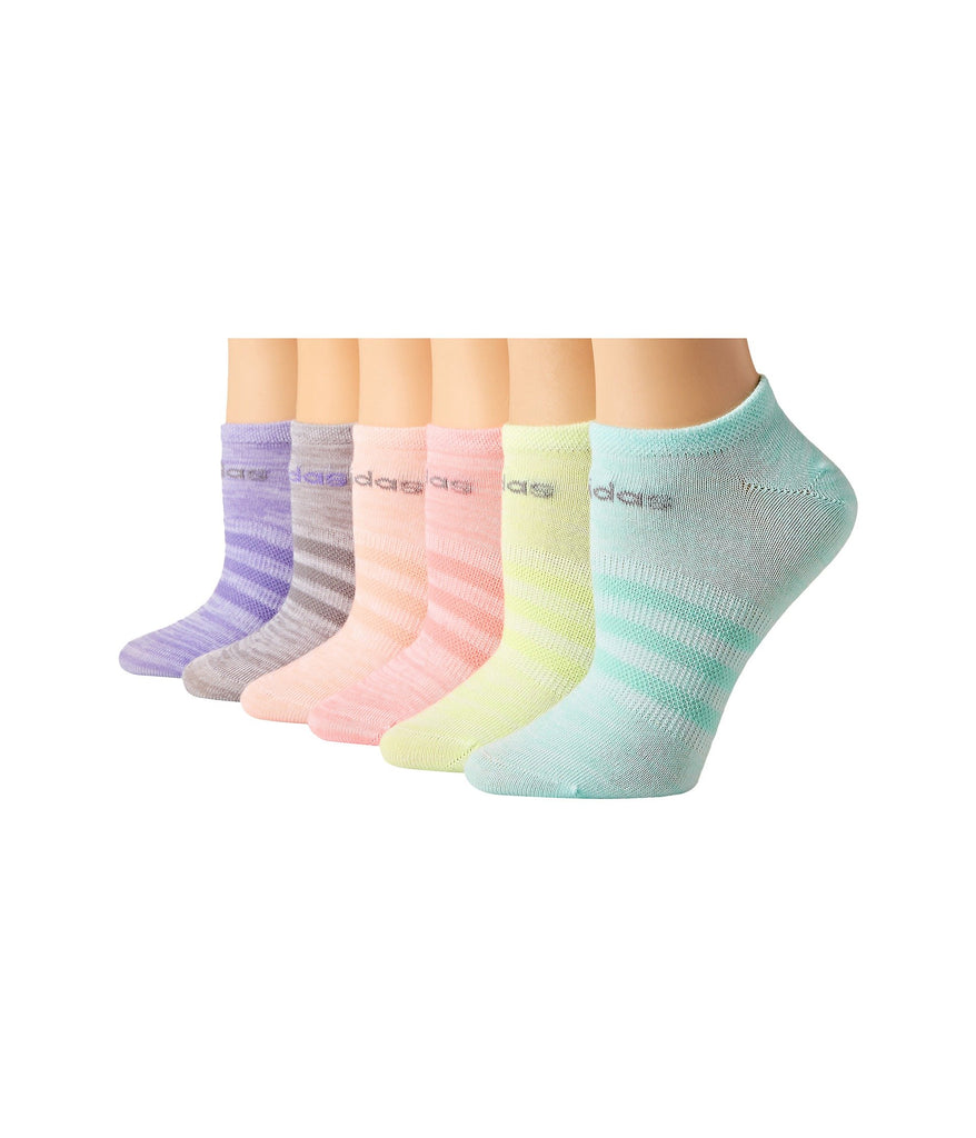 adidas Kids | Superlite 6-Pack No Show Socks (Toddler/Little Kid/Big Kid/Adult) - Yashry