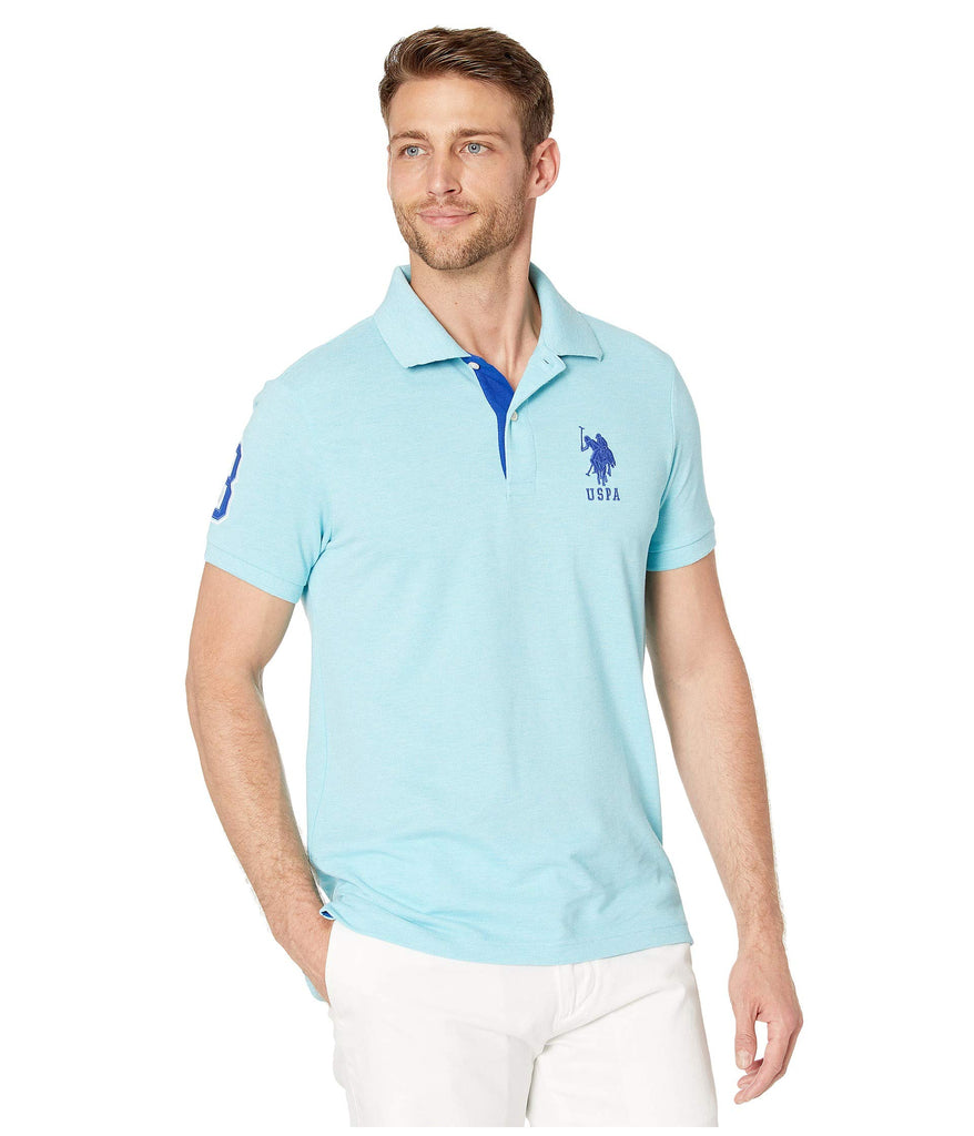 U.S. POLO ASSN. | Slim Fit Big Horse Polo w\u002F Stripe Collar - Yashry