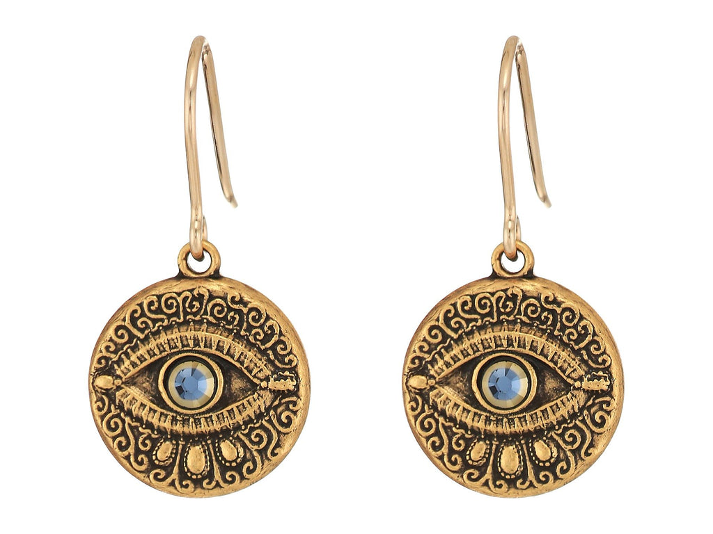 Alex and Ani Evil Eye Hook Earrings - Yashry