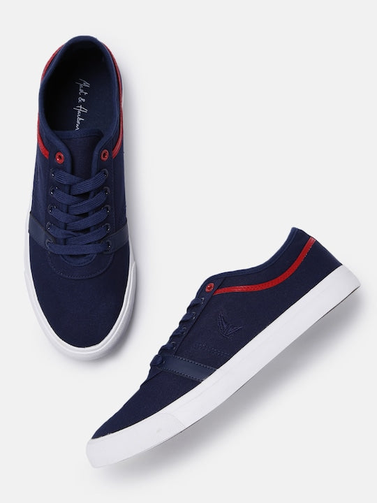 Mast & Harbour Men Navy Blue Sneakers - Yashry