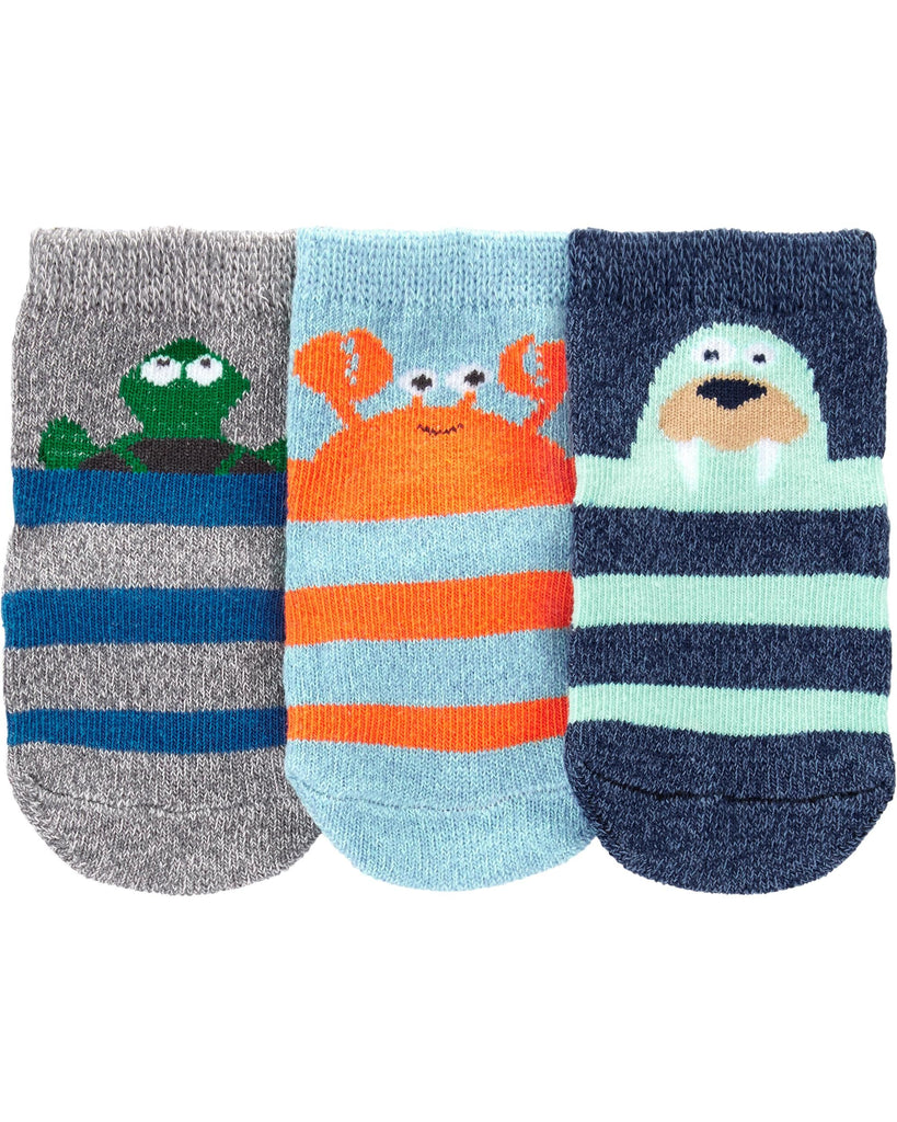 Carter's | 3-Pack Sea Character Crew Socks - Yashry