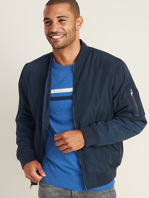 Old Navy | Water-Resistant Bomber Jacket for Men - Yashry