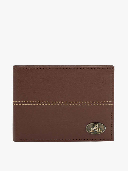 SWISS MILITARY Men Brown Solid Two Fold Wallet - Yashry