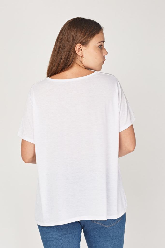 UK Sale | Graphic Thin White T-Shirt - Yashry