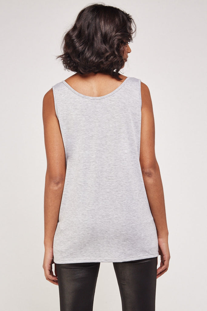 UK Sale | Grey Casual Sleeveless Top - Yashry