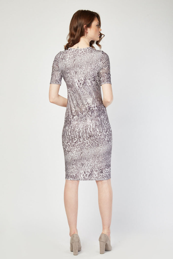 UK Sale | Illusion Print Midi Dress - Yashry