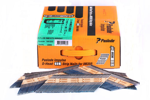 Paslode 90mm Bright Framing Nail 141233