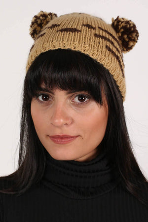 Animal Beanie in Brown 0