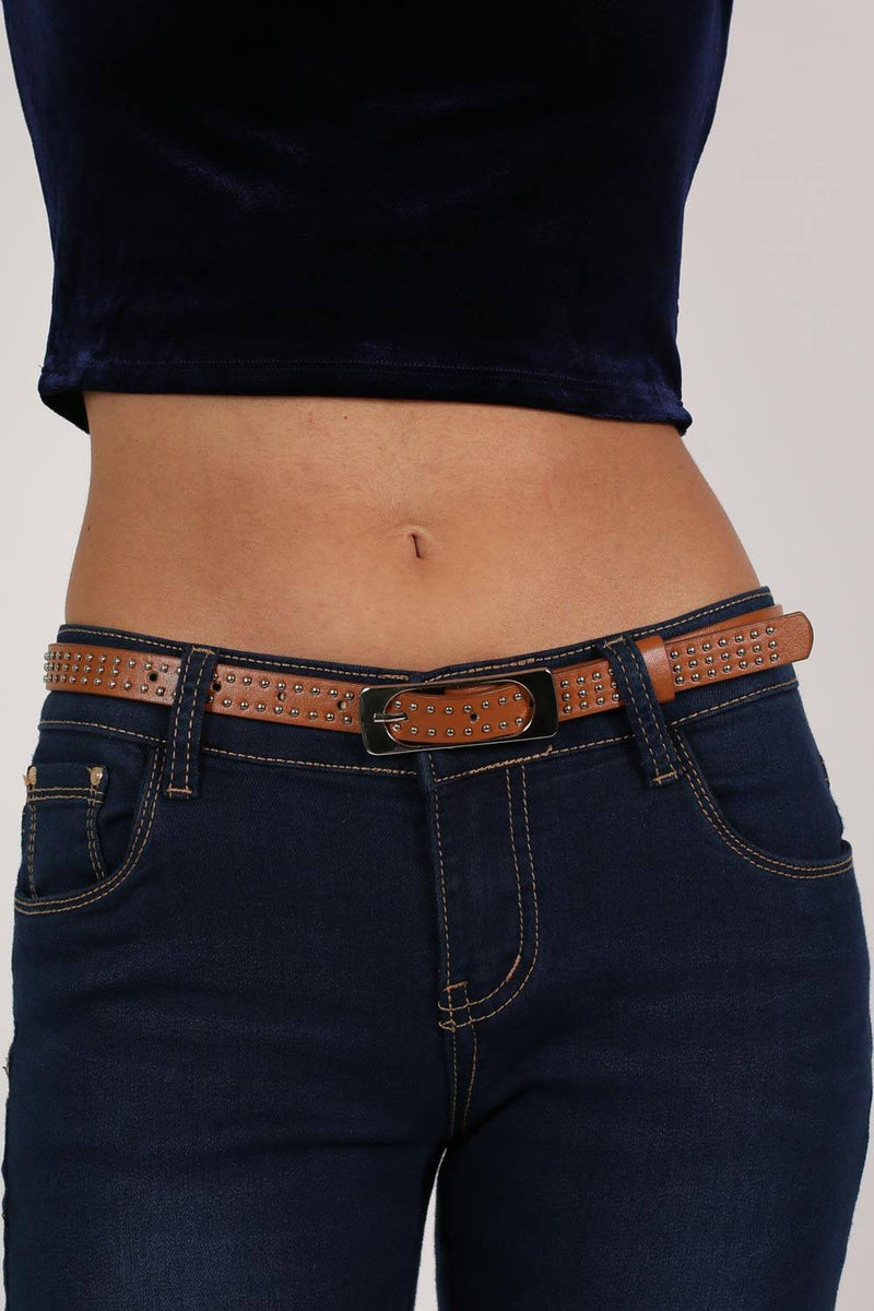 Studded Belt in Brown 0