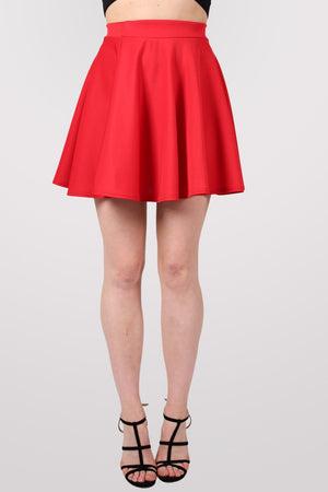 Scuba Skater Skirt in Red 1