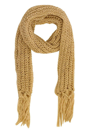 Chunky Knit Scarf in Cream 2
