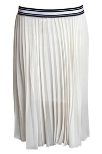 Pleated Midi Skirt in Cream 2