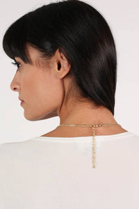 Layered Pendant Necklace in White 2