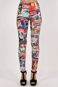 Cartoon Print Leggings 1