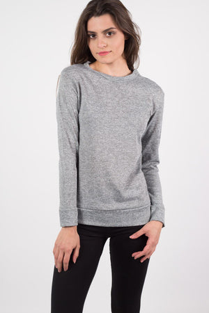 Loungewear Crew Neck Top in Grey 0