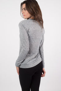 Loungewear Crew Neck Top in Grey 1