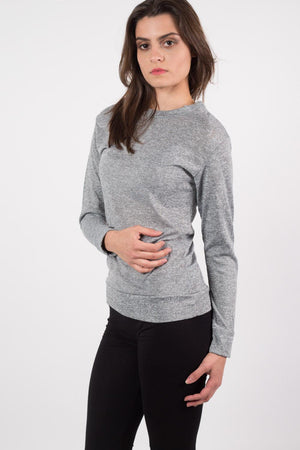 Loungewear Crew Neck Top in Grey 2