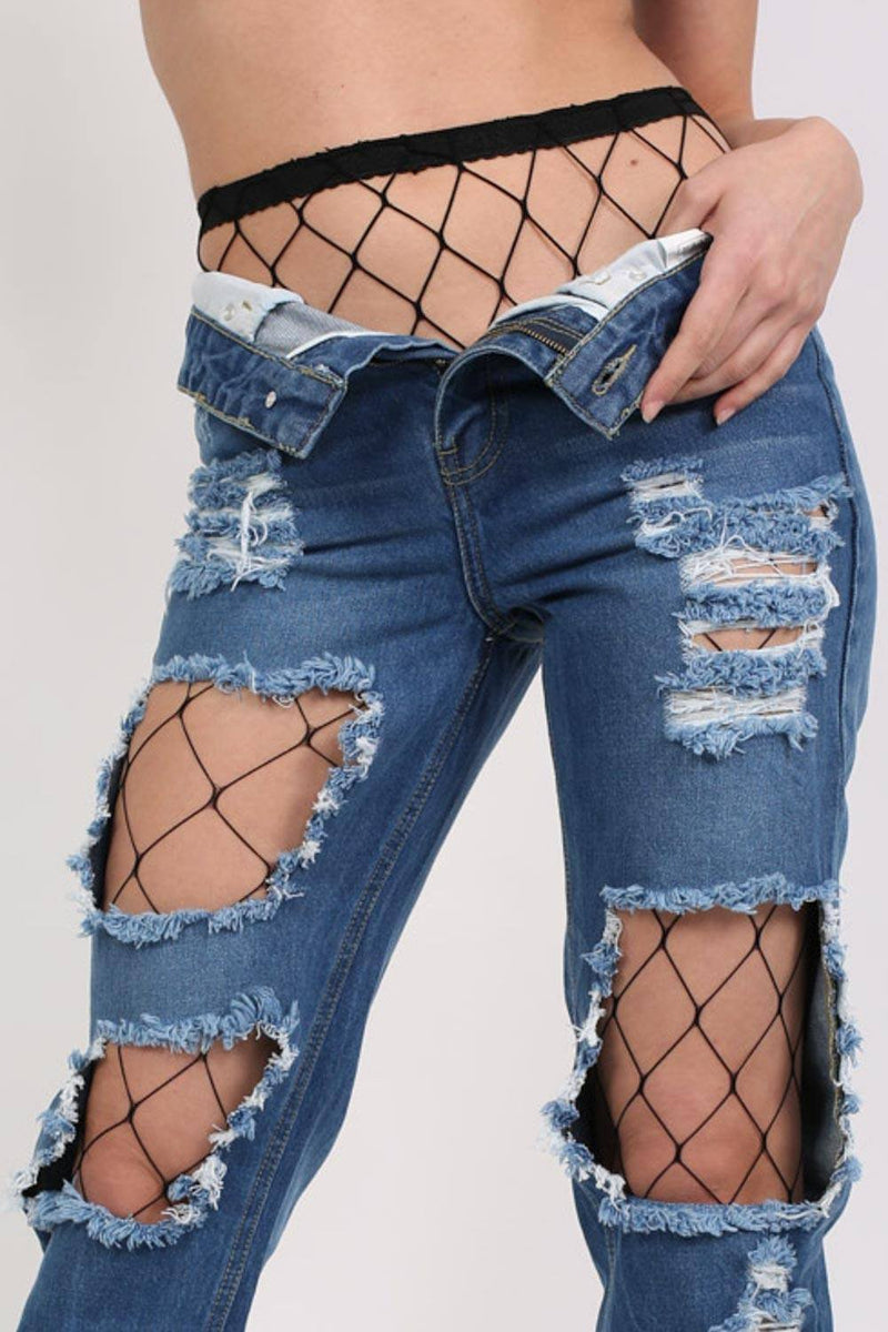 Oversized Net Diamond Shaped Fishnet Tights in Black 0