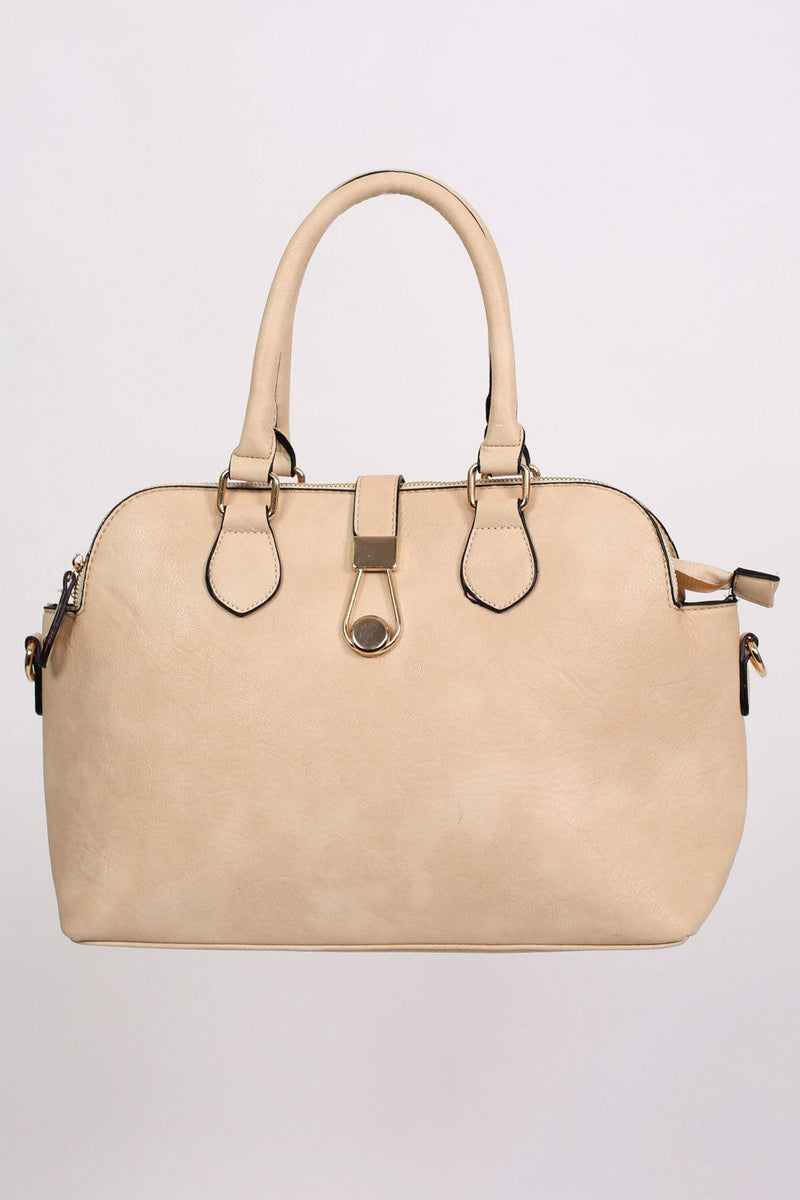 Two Handle Bowler Tote Bag in Champagne 4
