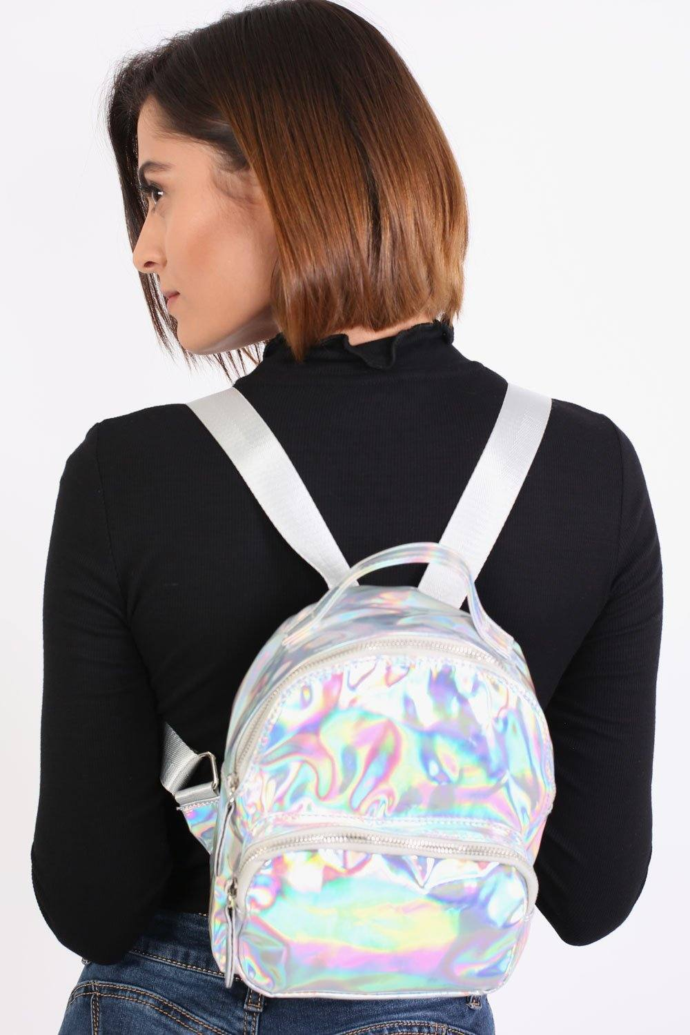 Holographic Backpack in Silver 0