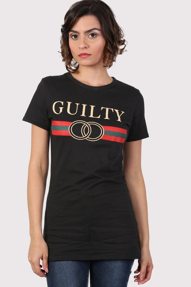 Guilty Graphic Print T-Shirt in Black 1
