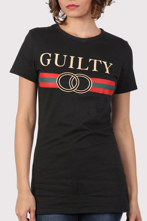 Guilty Graphic Print T-Shirt in Black 4