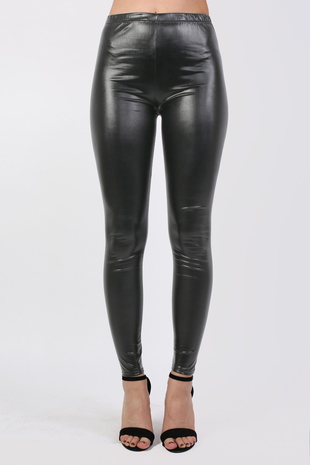 Vinyl Leggings in Black 0