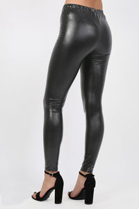 Vinyl Leggings in Black 1