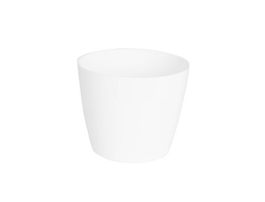 White plastic pot 4""