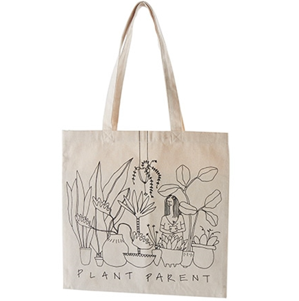 "Sac en coton réutilisable ""Plant parent"" 15"" x 15"""