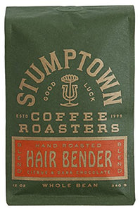 Stumptown Coffee Roasters Whole Bean Coffee, Hairbender, 12 Ounce. Sweet and Balanced Espresso, Indonesian Latin American African Coffee Blend, Perfect for Espresso, Drip or French Press Brewing