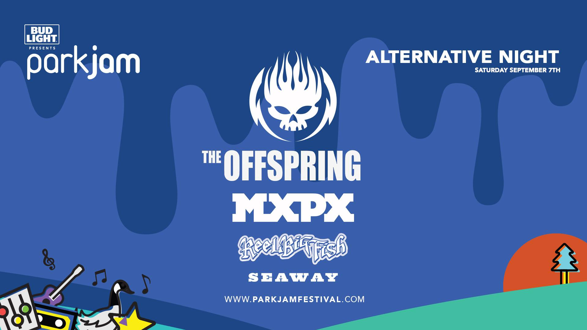 Saturday, SEPTEMBER 7th - Parkjam Alternative Night ft. Mxpx, The Offspring & more.