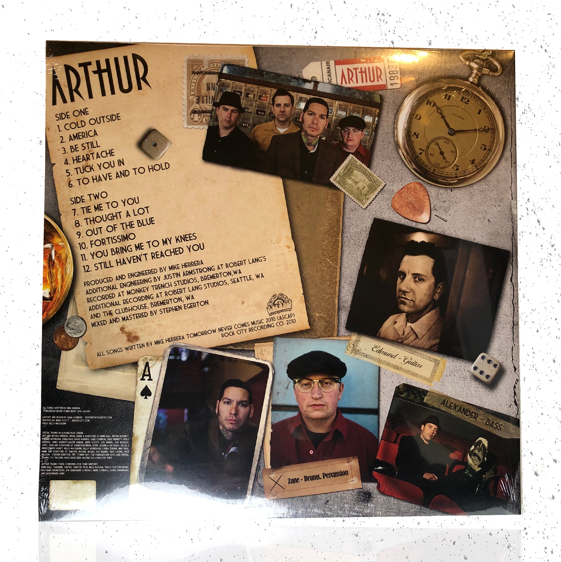 "VINYL - ""ARTHUR - WATCH THE YEARS CRAWL BY LP"""