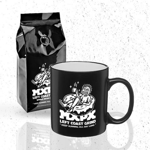 MXPX WHOLE BEAN COFFEE AND COFFEE CUP