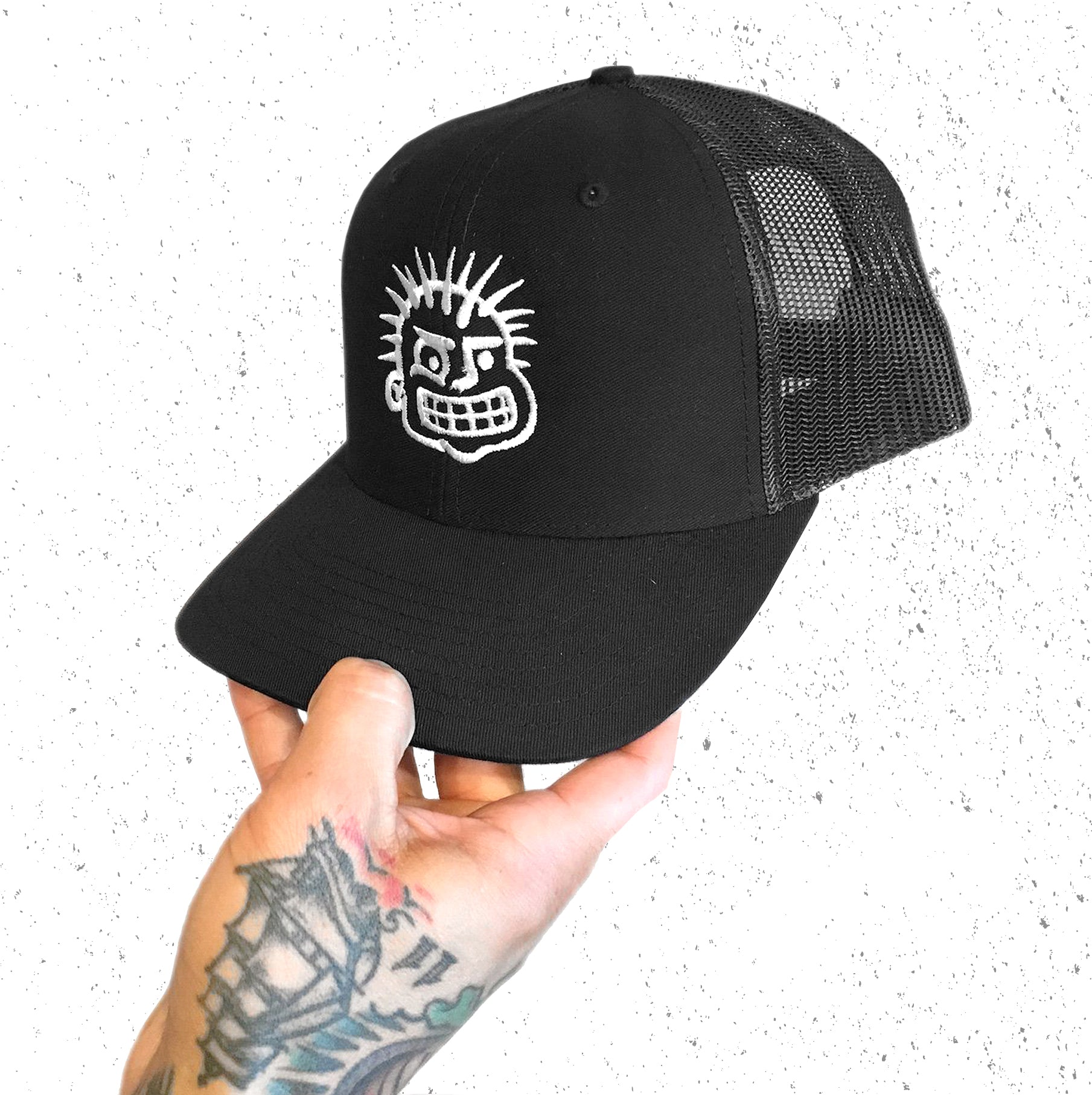 BALLCAP - EMBROIDERED PUNK HEAD