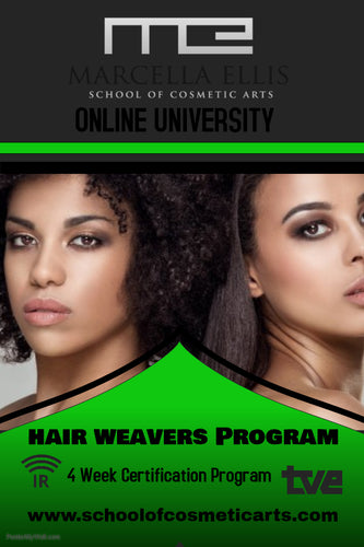 HAIR WEAVERS PROGRAM ONLINE-10 STUDENTS ONLY