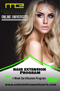 HAIR EXTENSION PROGRAM ONLINE-10 STUDENTS ONLY