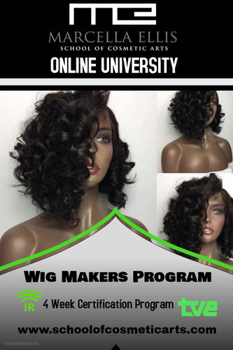 WIG MAKERS PROGRAM ONLINE-10 STUDENTS ONLY