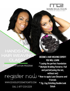Hair Weavers 2 or 4 Week Certification Program