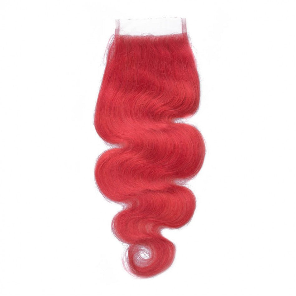 RED BODY WAVE CLOSURE 4X4