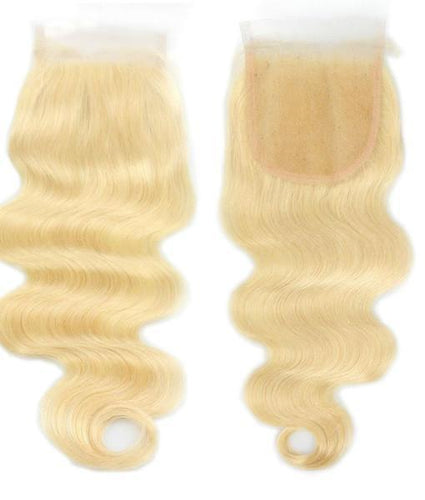 Blonde Closure Body Wave 4X4