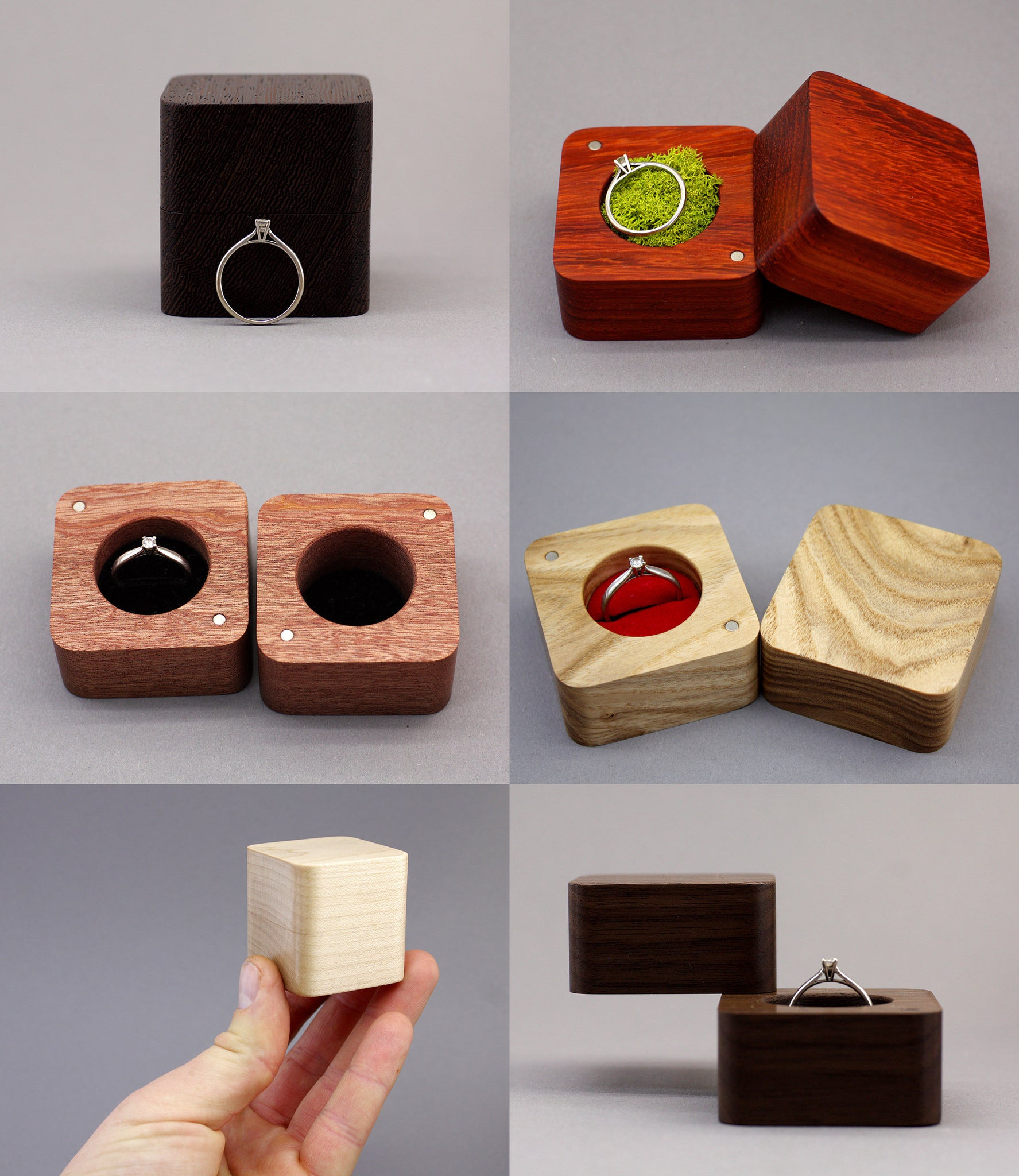 Traditional Ring Box (Multiple colours available) – LUVWOOD