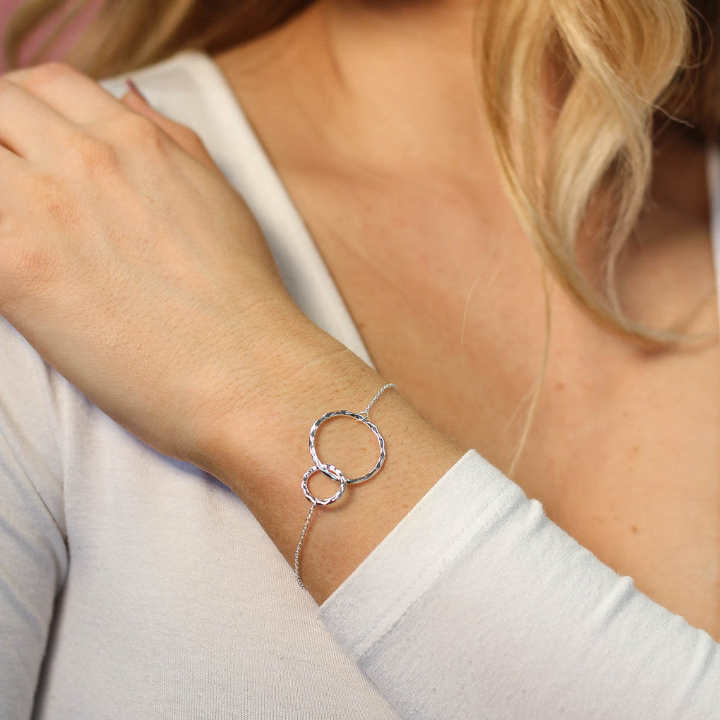Two circle bracelet in sterling silver | Little Sparkles Jewelry