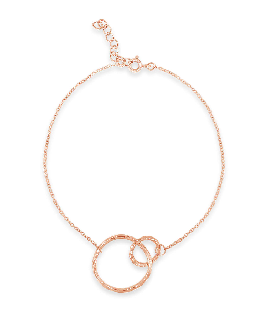 Two circle bracelet in rose gold | Little Sparkles Jewelry
