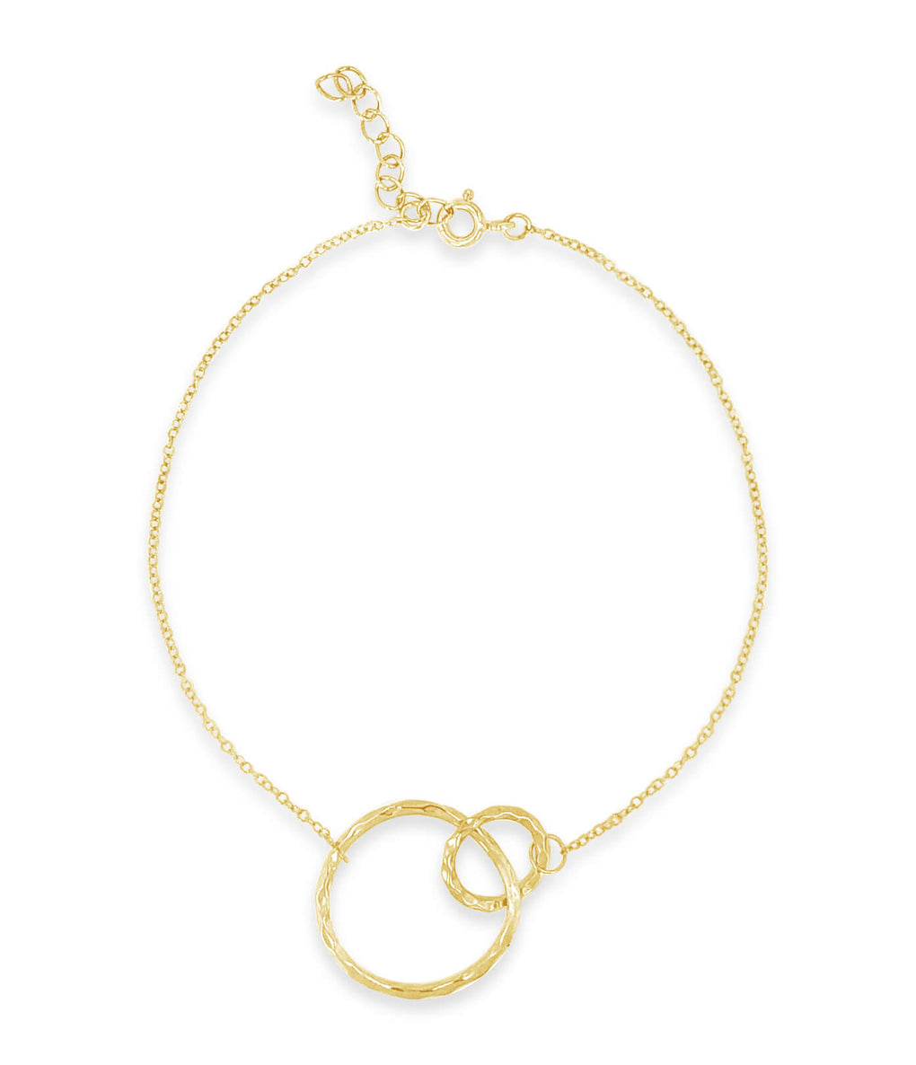 Two circle bracelet in yellow gold | Little Sparkles Jewelry