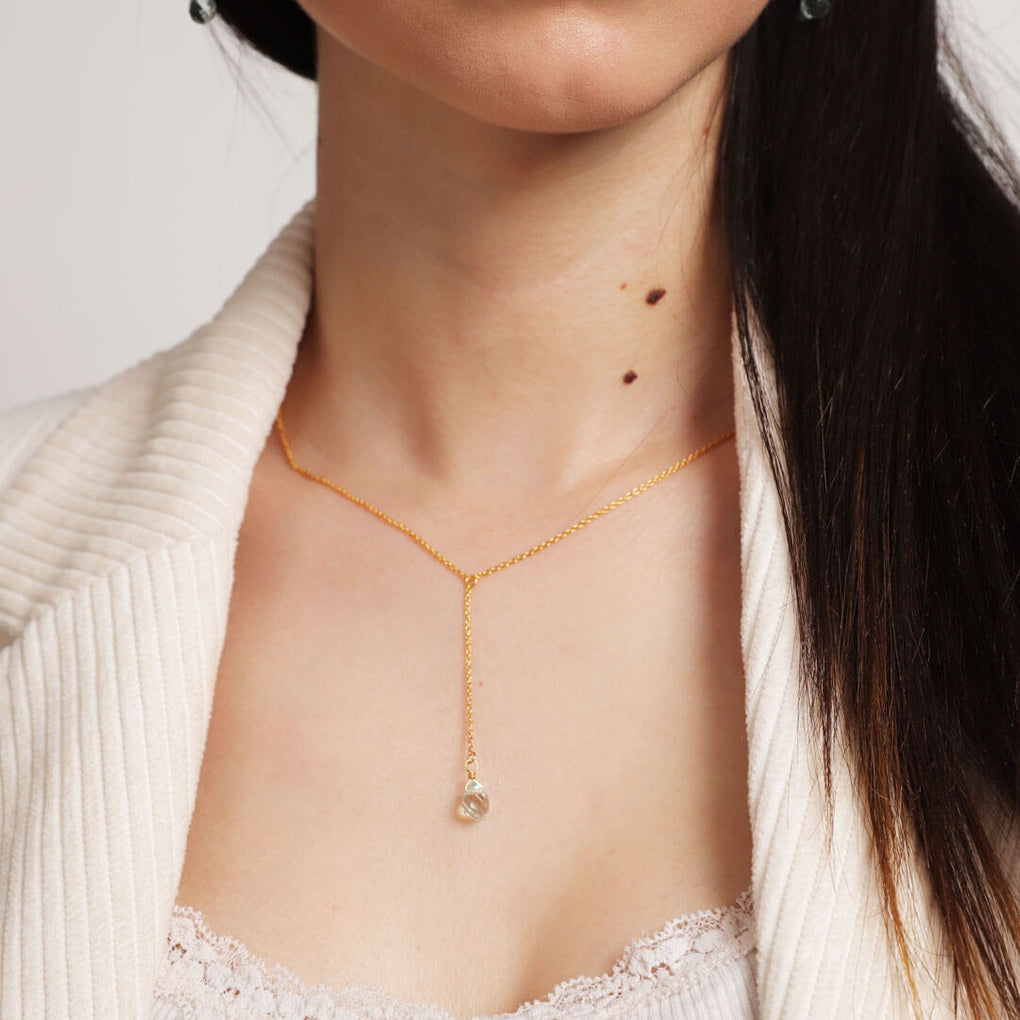 Briolette Plunge Layering Necklace