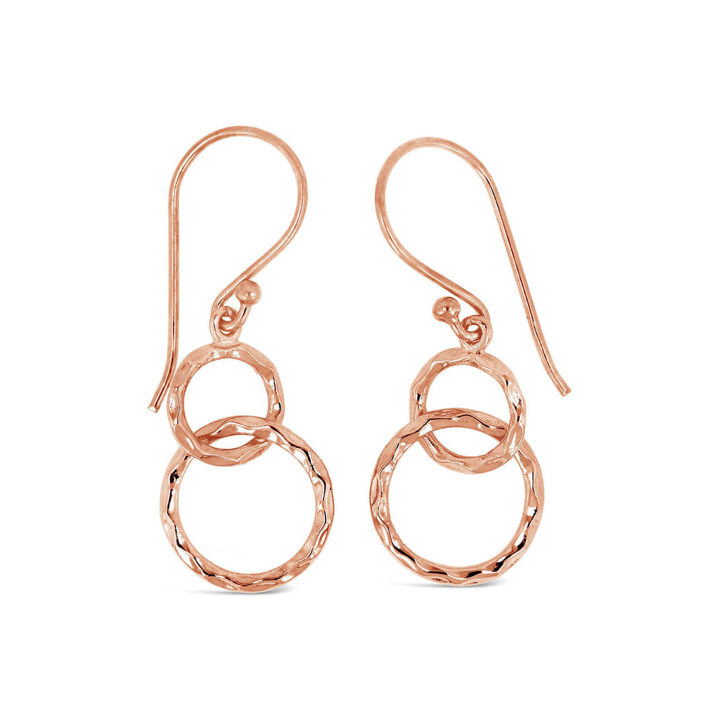 Infinity Circles French Hook Dangle Earrings | Little Sparkles Jewelry