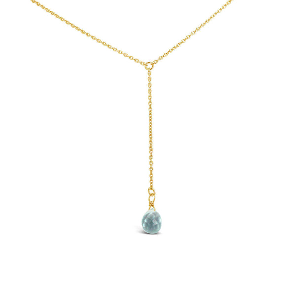 Briolette Plunge Necklace